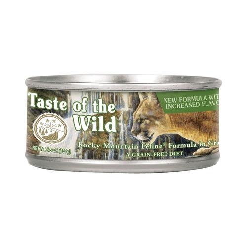 alimento gato rocky mtn taste of the wild adulto venado 3oz