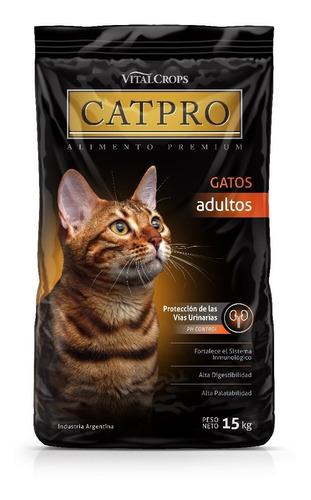 alimento gatos catpro adultos 15 kg * envíos gratis caba*