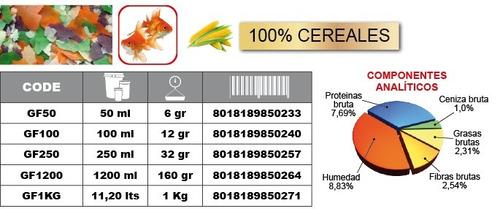 alimento goldfish flakes escamas prodac 160 gramos carassius peces agua fria acuario