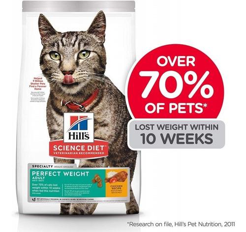 alimento hills gatos 1-6 adultos perfect weight 3lb