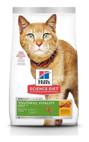 alimento hills youthful v adulto 7+ 3lb gatos
