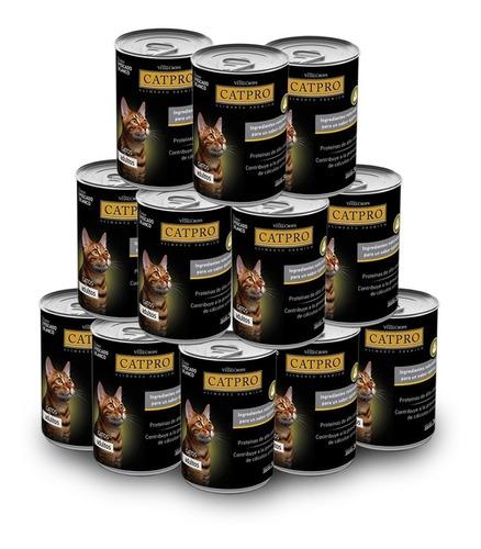 alimento húmedo catpro x 12 latas ** envíos  gratis caba**