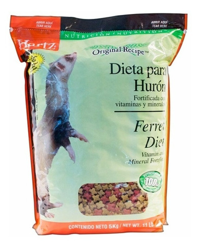 alimento huron ferret diet 5kg hartz