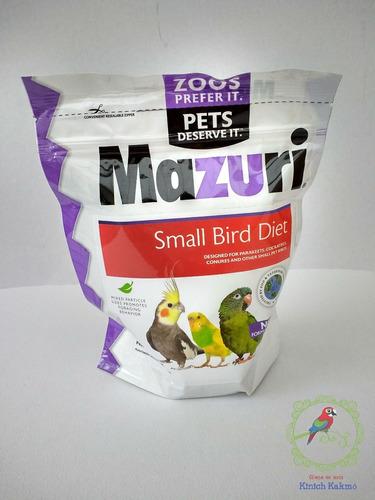 alimento mazuri para ninfa,canario, australianos, agaporni