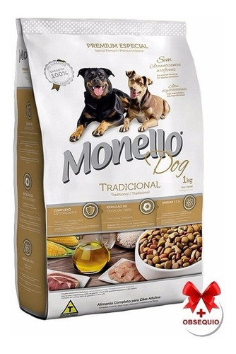 alimento monello adulto tradicional 7 kg con snacks