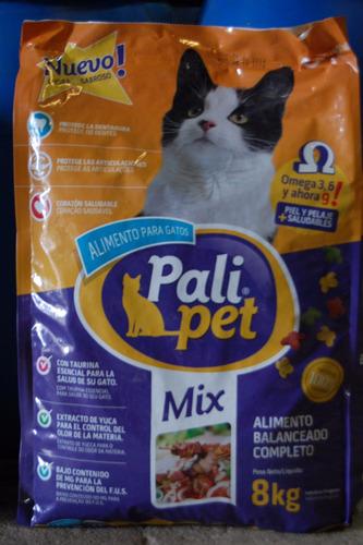 alimento palipet gatos 8 kgs.