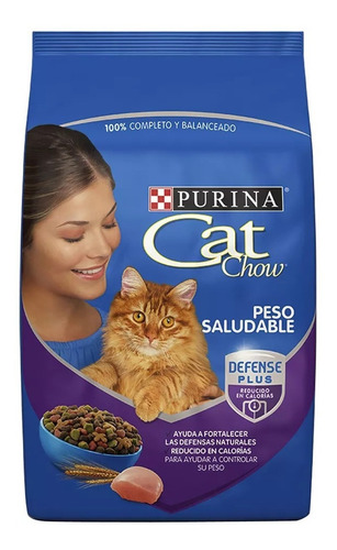 alimento para gato cat chow peso saludable 1.5 kg