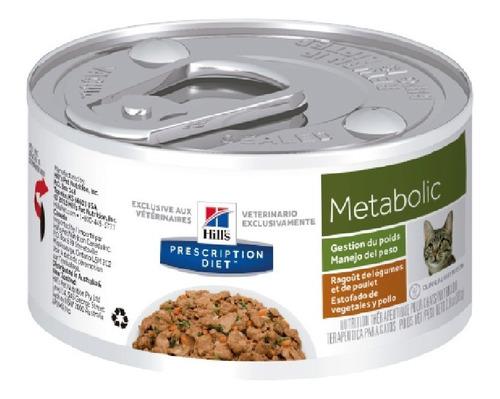 alimento para gato en lata metabolic hill's adultos todas la