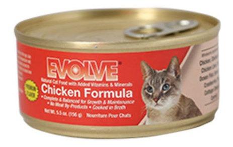 alimento para gato -evolve pollo lata 5.5 oz