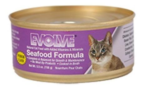 alimento para gato -evolve sabor de mar lata 5.5 oz