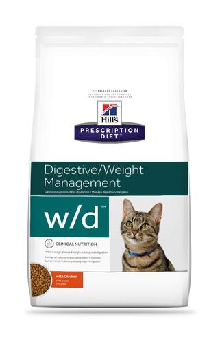 alimento para gato hill's w/d  prescription diet 3.8 kg - nuevo original sellado