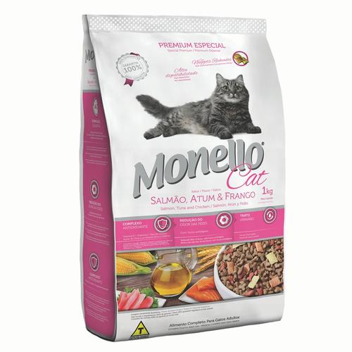 alimento para gato monello adulto premium 1 kg