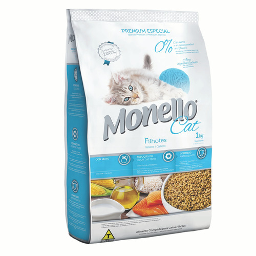 alimento para gato monello premium cachorros