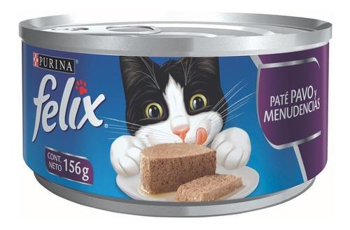 alimento para gato purina felix pate pavo-menudencias 156 g