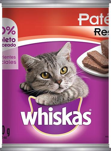 alimento para gato whiskas pate res lata 350 g