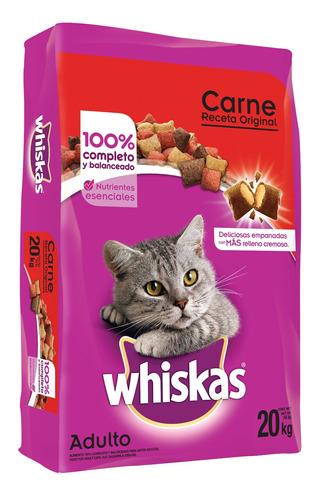 alimento para gato whiskas receta original bulto de 20kgs.