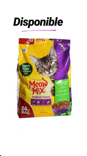 alimento para gatos meow mix por kg y por saco