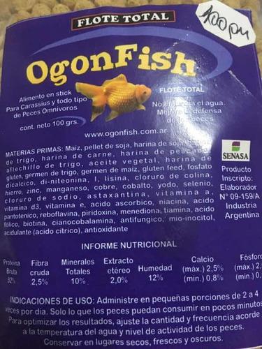 alimento para peces balde flote total ogonfish 3kg