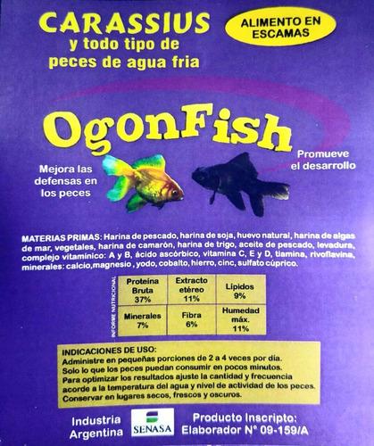 alimento para peces escamas frías 250grs ogonfish