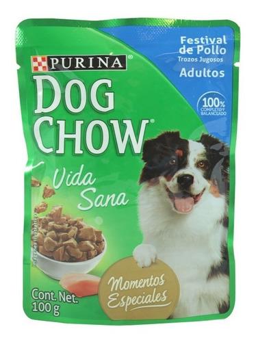 alimento para perro dog chow festival de pollo adulto 100 g