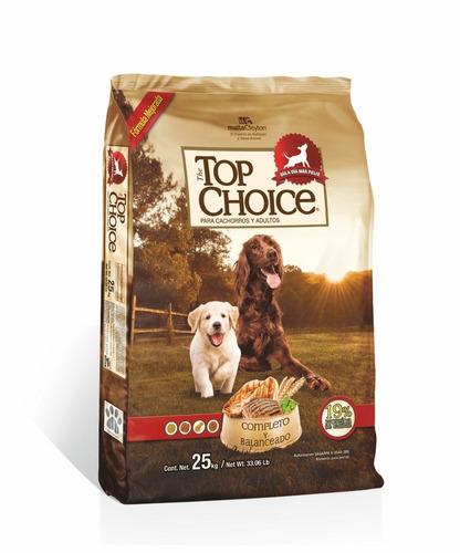 alimento para perro top choice 25 kg