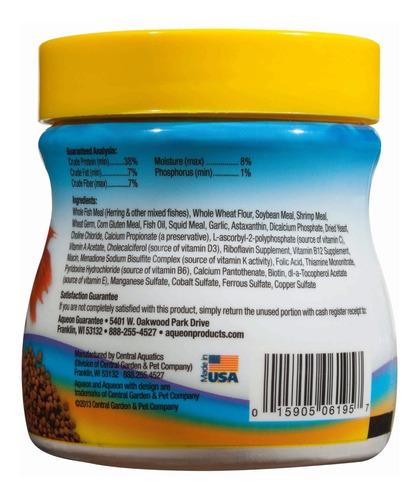 alimento peces bettas mini pellets color aqueon 27 grs x 2 u