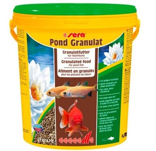alimento peces koi y pileta sera granulat 21 lts + 600 gr