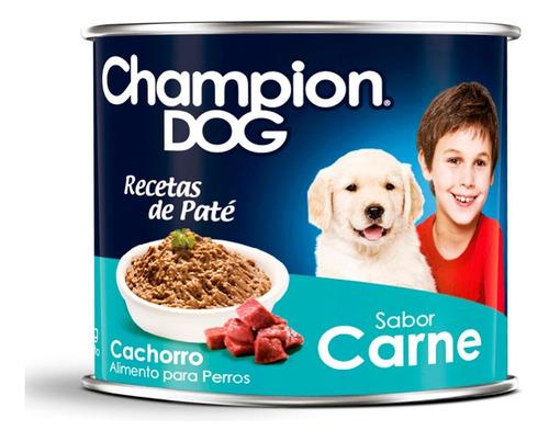alimento perro cachorro champion dog 24 latas de 315 gr