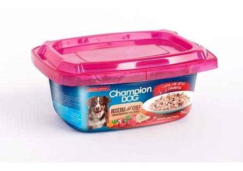 alimento perro champion dog carne con a&z 12 potes 283 gr