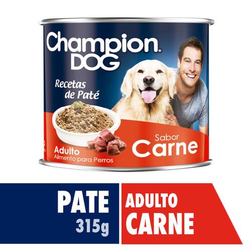 alimento perro champion dog pate carne 24 latas 315 gr