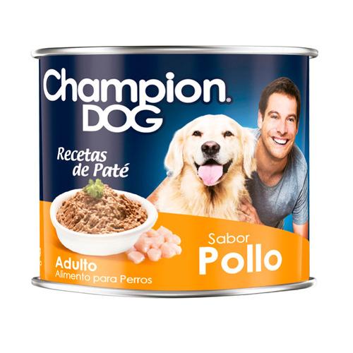 alimento perro champion dog pate pollo 24 latas 315 gr
