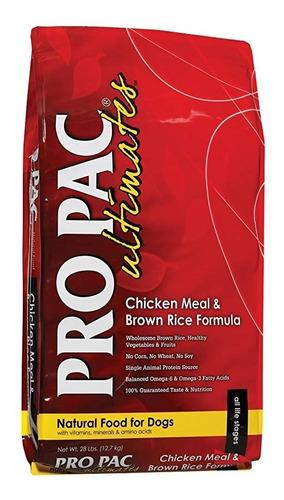 alimento perros pro pac pollo y arroz integral 12 kg
