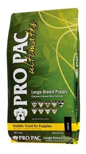 alimento perros puppy raza grande pro pac pollo arroz 12 kg