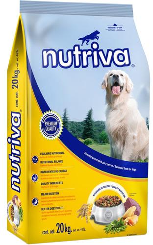 alimento premium para perro nutriva 20 kg.
