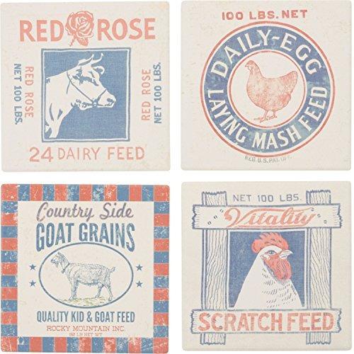 alimento snack prints pollo gallo cow drink absorbente po