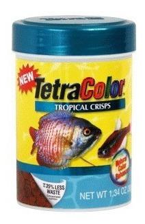 alimento tetracolor tropical crisps 38grs peces acuario