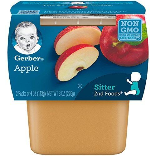 alimentos gerber purees de manzana con vitamina c 4 onzas
