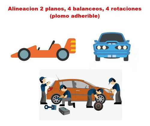 alineacion 2 planos, 4 balanceos, 4 rotaciones (plomo adhe)