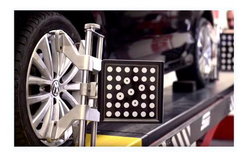 alineación 3 d camionetas 1 eje + 4 balanceos + rotación