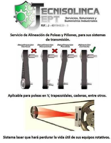 alineación de poleas con sistema laser.