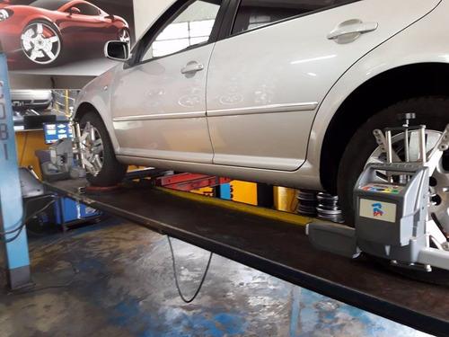 alineación3d tren delantero+4 balanceos+rotación para auto