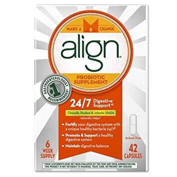 alinear suplemento probiótico, 24/7 soporte digestivo con