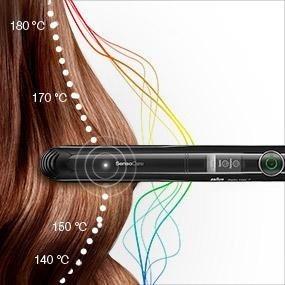 alisa el cabello planchita para pelo braund