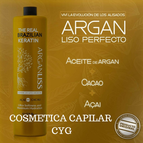 alisado definitivo argan original real brazilian keratin