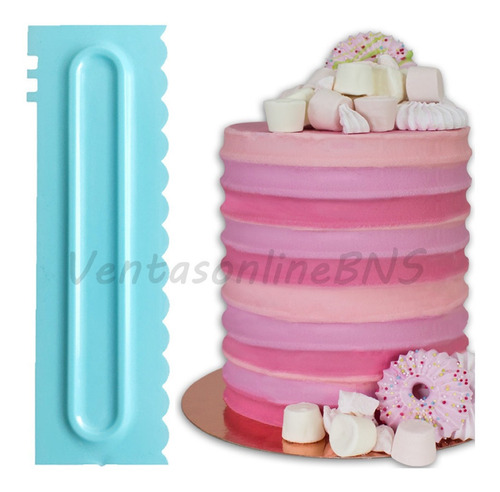 alisadores peines para tortas scraper de contorno reposteria