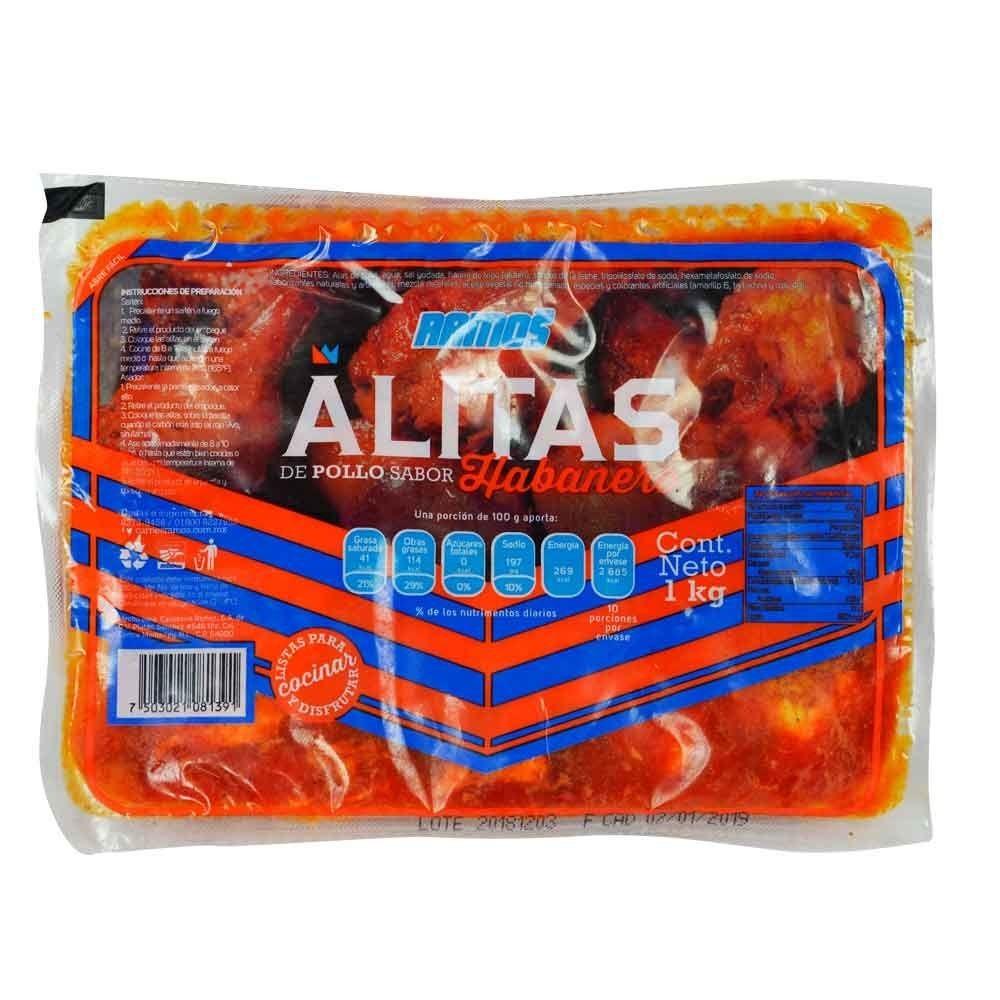 Alitas Habaneras Carniceria Ramos 1 Kg 159 00 En Mercado Libre