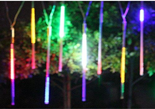 alkbo color cambiable lluvia de meteoros lluvia luces imper