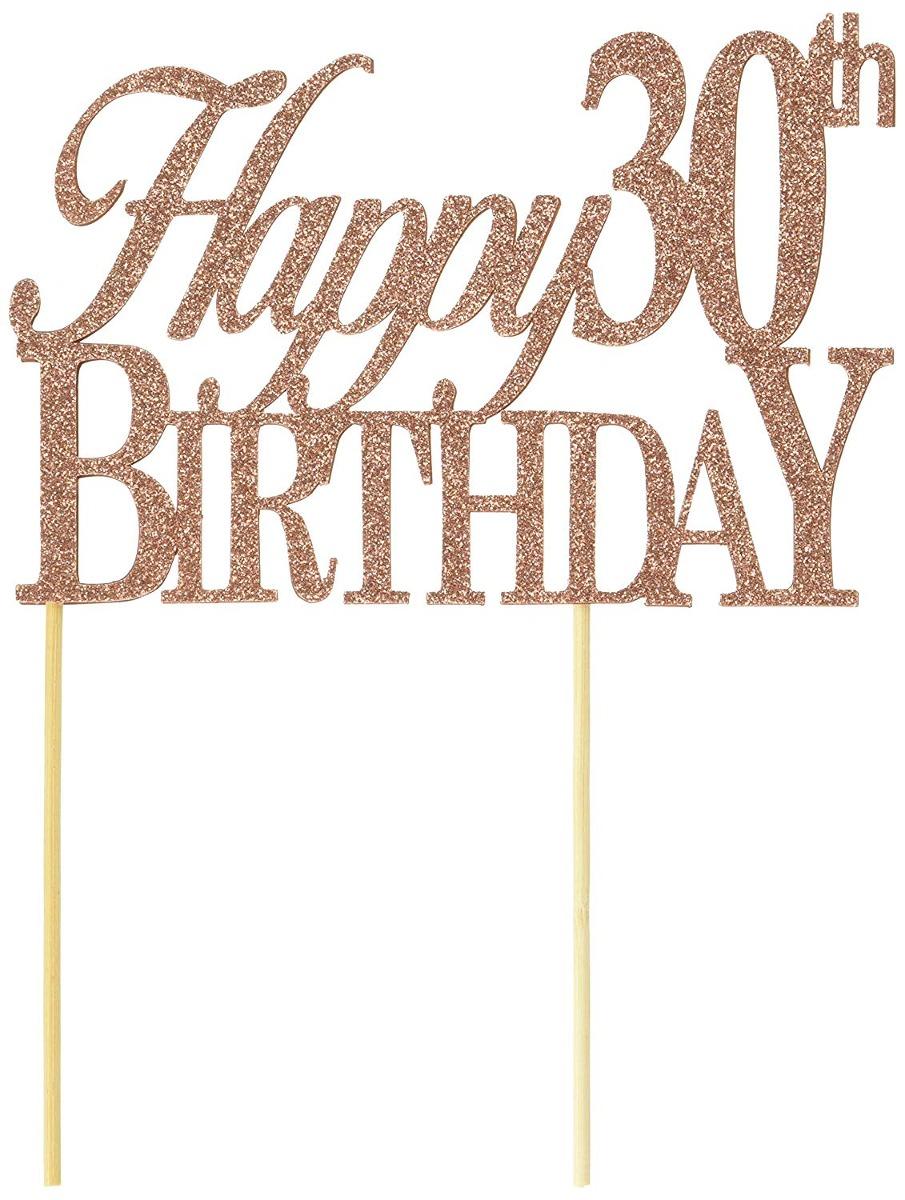 Happy 30th Birthday Cake Topper Cargando Zoom