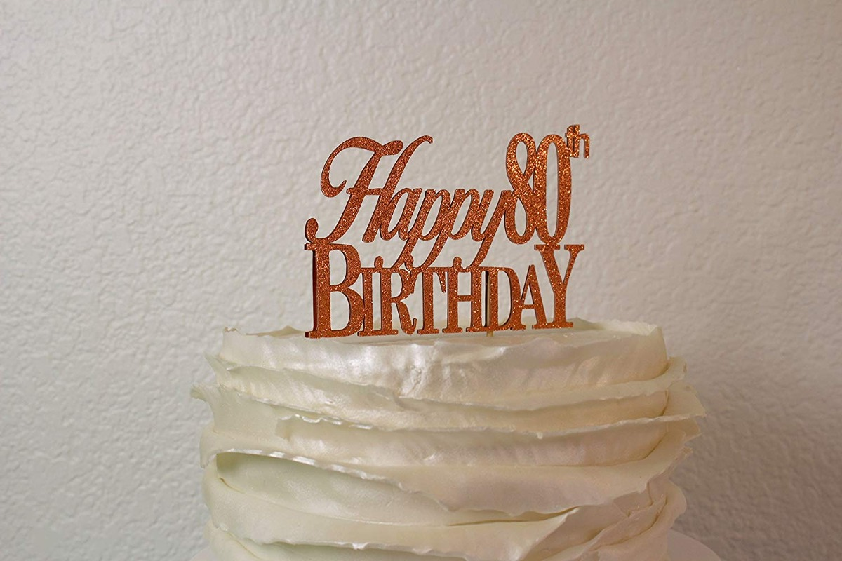 Pleasant All About Details Copper Happy 80Th Birthday Cake Topper Funny Birthday Cards Online Aboleapandamsfinfo