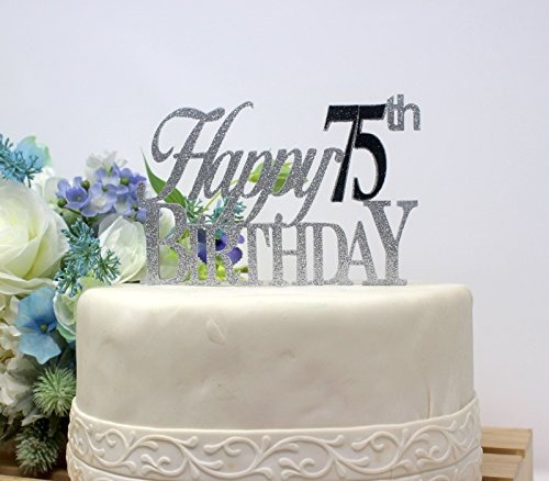 All About Details Happy 75th Birthday Cake Topper1pc